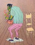 Mad Musician 23x19 1954 Self Portrait? Original Painting - Fritz Scholder