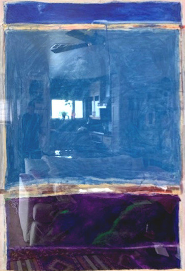 Window #1 Original 1988 40x30 Super Huge Original Painting by Fritz Scholder
