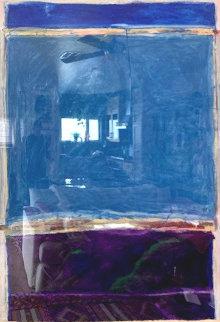 Window #1 Original 1988 40x30 Huge Original Painting - Fritz Scholder