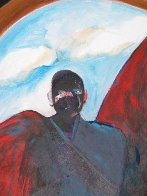 Possession With Clouds 1989 81x69 Huge Original Painting by Fritz Scholder - 2