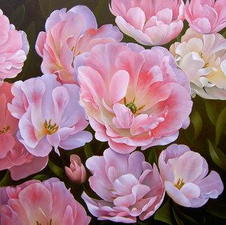 Springtime 2013 55x55 Original Painting - Heinz Scholnhammer