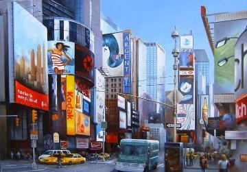 N.Y. 2010 27x39 Original Painting - Heinz Scholnhammer