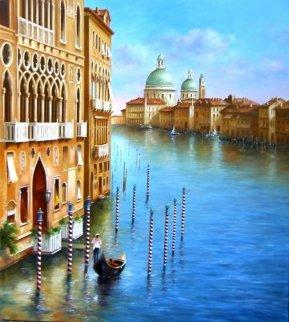 Venezia 2010 35x31 Original Painting - Heinz Scholnhammer