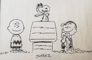 Untitled Drawing 1970 31x24 Drawing - Charles Schulz