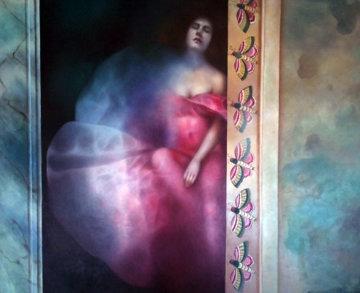 Retour D'Blanche 1984 Original Painting - Odile Schwilgue