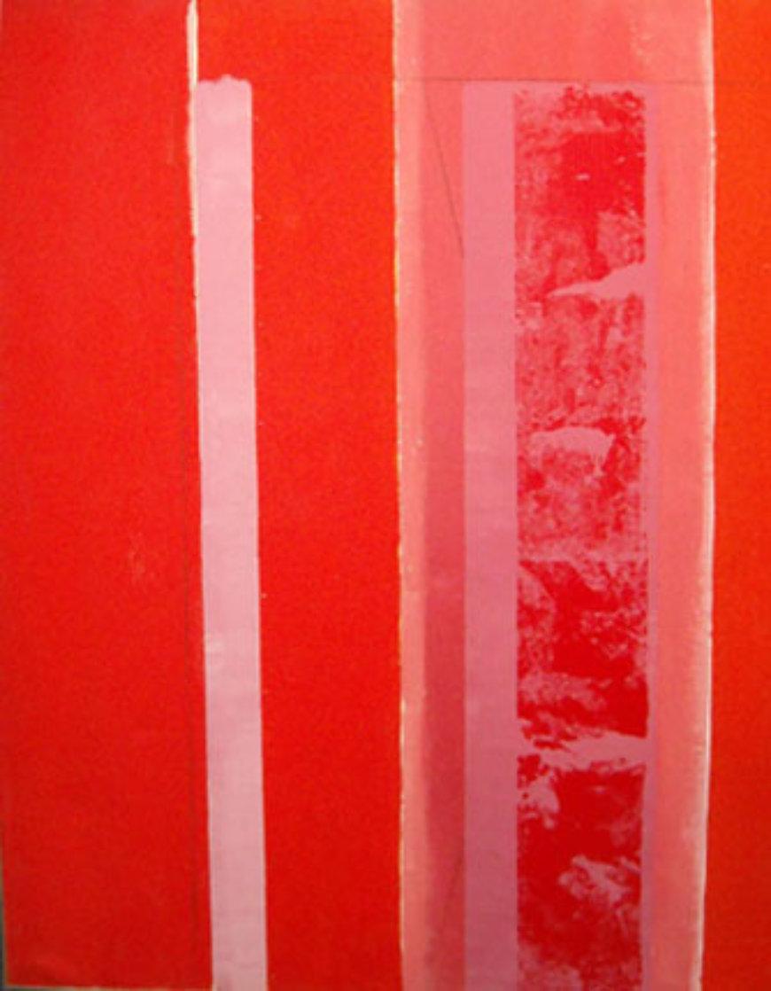 Untitled (Suite of 2 paintings) 67x104 Super Huge Mural Original Painting by Toti Scialoja