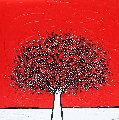 Red Sky 2011 39x39 Original Painting - Richard Scott