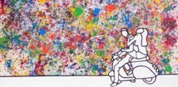Colourful Joyride 2006 59x118 Mural Original Painting - Richard Scott