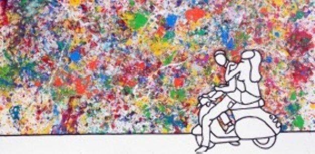Colourful Joyride 2006 59x118 Mural Original Painting by Richard Scott