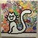My Colorful Cat 2007 19x19 Original Painting by Richard Scott - 0