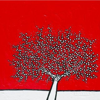 Your Olive Tree 2011 39x39 Huge Original Painting - Richard Scott