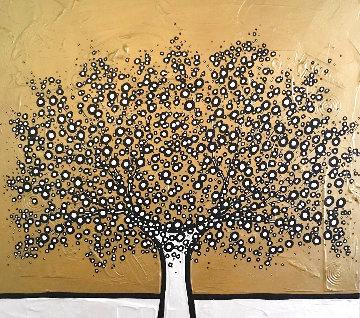 Gold Gold Gold Acrylic 2013 39x39 Original Painting - Richard Scott