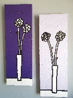 Untitled (Floral Paintings), Set of 2 2002 35x11 Original Painting by Richard Scott - 2