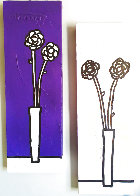 Untitled (Floral Paintings), Set of 2 2002 35x11 Original Painting by Richard Scott - 0