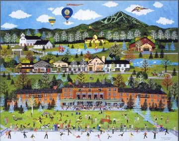 Sun Valley Celebration 1986 Pall Allen Conference Limited Edition Print - Jane Wooster Scott