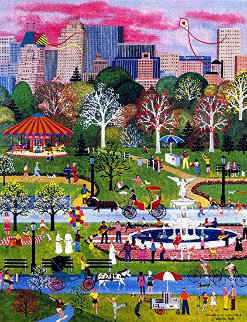 Springtime in Central Park 2000 Limited Edition Print - Jane Wooster Scott