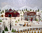 Visiting Grandma 1974 16x20 Original Painting - Jane Wooster Scott
