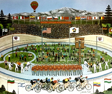 World Cycling Championships Limited Edition Print - Jane Wooster Scott