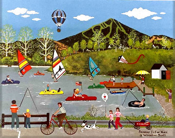 Summer is For Kids - Sun Valley Idaho Limited Edition Print - Jane Wooster Scott