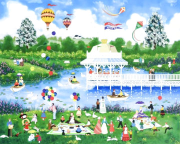 Mothers Day Picnic 1995 Limited Edition Print - Jane Wooster Scott