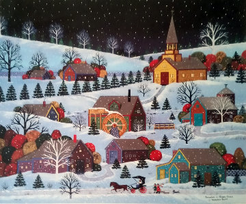 Snowfall in Goose Creek Limited Edition Print - Jane Wooster Scott