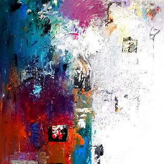 Untitled Abstract Painting 2020 20x20 Original Painting - W. Scott Wilson