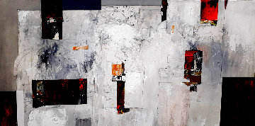 Untitled Abstract Painting 2020 24x48 Original Painting - W. Scott Wilson