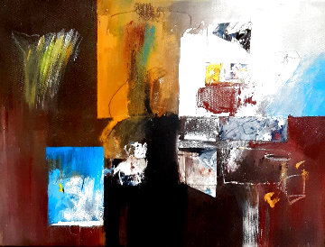 Untitled Abstract Painting 2020 12x16 Original Painting - W. Scott Wilson