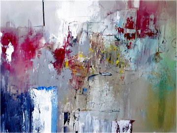 Untitled Abstract Painting 2020 30x40 Original Painting - W. Scott Wilson