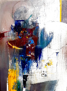Untitled Abstract Painting 2020 16x12 Original Painting - W. Scott Wilson
