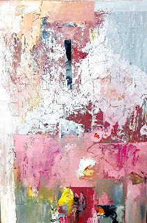 Untitled Abstract Painting 2020 19x12 Original Painting - W. Scott Wilson