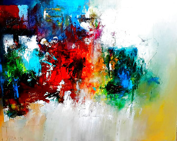Untitled Abstract Painting 2019 40x50 Huge Original Painting - W. Scott Wilson