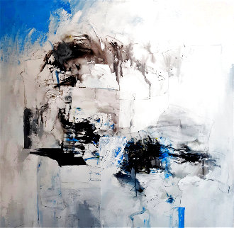 Untitled Abstract Painting 2019 36x36 Original Painting - W. Scott Wilson