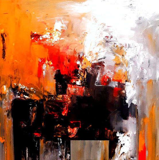 Untitled Abstract Painting 2020 36x36 Original Painting by W. Scott Wilson