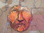 Medicine Man Mixed Media 1976 17x21 Original Painting - Bert Seabourn