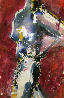Torse Nu Incurve 29x33 Original Painting by Nicole Sebille