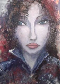 Caline 54x41 Super Huge Original Painting - Nicole Sebille