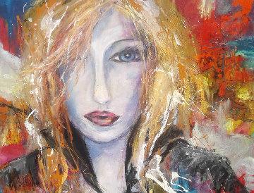 Candide 41x54 Original Painting - Nicole Sebille