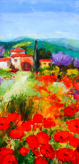 Le Mas Du Sud 2000 50x25 Super Huge Original Painting - Nicole Sebille