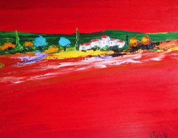 Untitled (Fauve) 2003 37x44 Super Huge Original Painting - Nicole Sebille