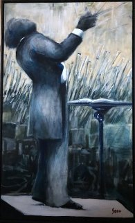 Circa 21st 2006 68x39 Original Painting - Ernesto Seco