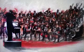 Cresendo 2003  40x60 Huge Original Painting - Ernesto Seco