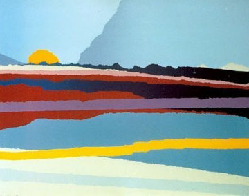Lugano Secunda 1987 Limited Edition Print by Arthur Secunda