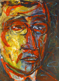 Jean Paul Sartre 1999 30x22 Works on Paper (not prints) - Arthur Secunda