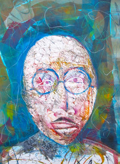 Igor Stravinsky Monoprint 1998 Works on Paper (not prints) by Arthur Secunda