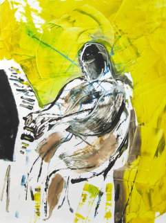 Fats Domino Monotype 2010 30x22 Works on Paper (not prints) by Arthur Secunda