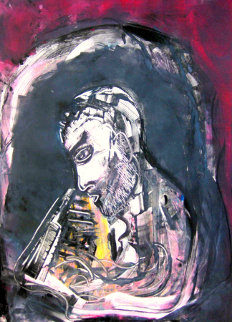 Bill Evans Monotype 2010 30x22 Works on Paper (not prints) by Arthur Secunda