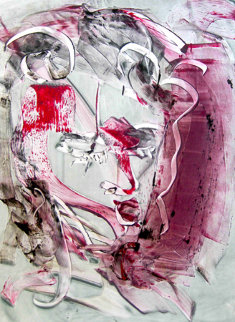 Lenny Tristano Monoprint 2010 30x22 Works on Paper (not prints) - Arthur Secunda