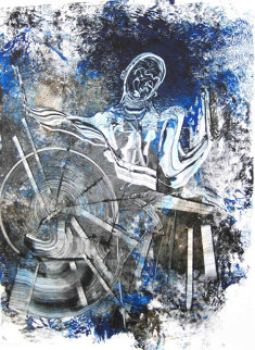 Big Sid Catlett Monoprint 2010 30x22 Works on Paper (not prints) by Arthur Secunda