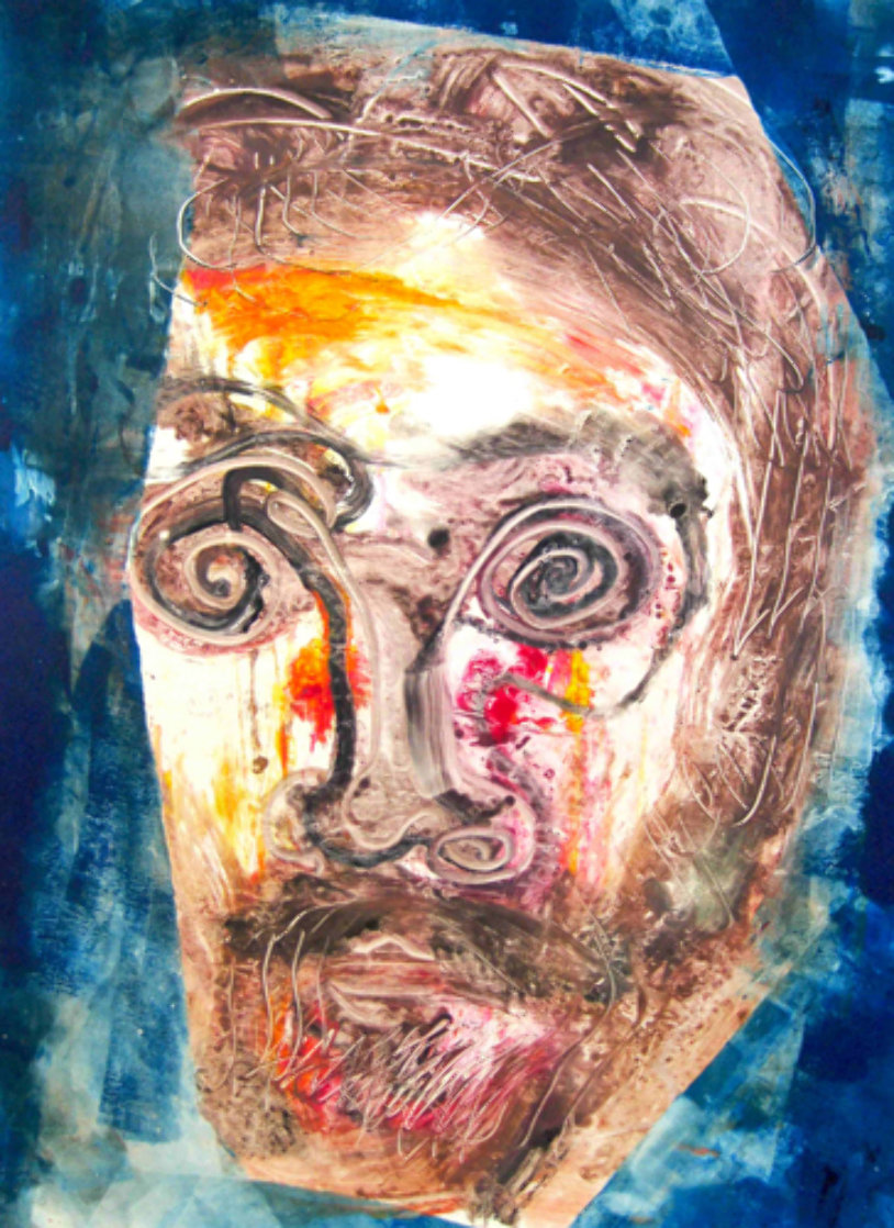Ron Carter Monotype 2010 30x22 Works on Paper (not prints) by Arthur Secunda